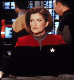 Kate Mulgrew starred in the Star Trek: Voyager TV series.