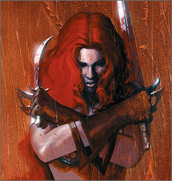 Concept art: Red Sonja will star RoseMcGowan, of Planet Terror fame.
