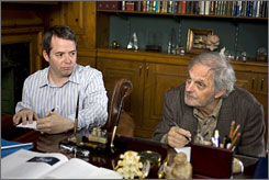 Write this down: Matthew Broderick, left, and Alan Alda play relatives with memory problems.