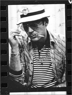 Framing his life: Gonzo explores the experiences of tormented author Hunter S. Thompson.