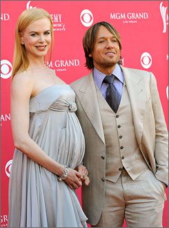 Proud parents: Actress Nicole Kidman  and singer Keith Urban.