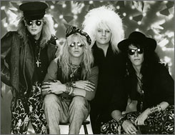No antidote needed: Rikki Rocket, left, Bret Michaels, C.C. DeVille and Bobby Dall of Poison.