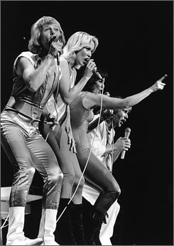 Knowing me: ABBA's Bjrn Ulvaeus, left, Agnetha Fltskog, Anni-Frid Lyngstad and Benny Andersson.