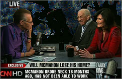 Former Tonight Show sidekick Ed McMahon, center, has had several offers since the news of his foreclosure situation became public.