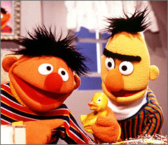 Bert and Ernie pay a special visit to the Smithsonian Institution starting this Saturday.