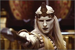 Before: It took 45 minutes for Luke Goss to remove his Prince Nuada makeup.