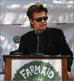 John Mellencamp announces Farm Aid's plans to host the benefit concert in New England this year.