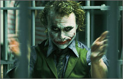 Is Heath Ledger as The Joker in The Dark Knight the new template for vocal menace?