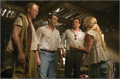 Who's the daddy?: Stellan Skarsgard, left, Pierce Brosnan, Colin Firth and Amanda Seyfried in Mamma Mia!
