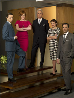Mad Men(pictured here) and Damages are the first basic cable shows to be nominated for best drama series.