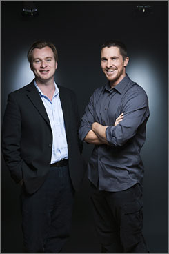"Top-notch teamwork: Dark Knight director Christopher Nolan, left, and star Christian Bale have done two Batman movies together. ""It's iconic, it's classic literature,"" says Nolan of the comic-book stories."