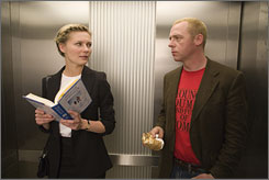 Likable loser: Kirsten Dunst and Simon Pegg star  in How to Lose Friends & Alienate People, out Oct. 3.