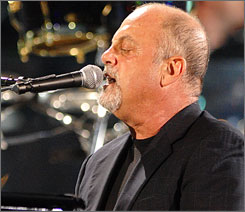Billy Joel performs at Shea Stadium on Wednesday. Joel will perform the final concert at the home of the Mets on Friday.