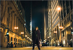 Heath Ledger's performance as The Joker helped propel The Dark Knight to a blockbuster opening weekend.