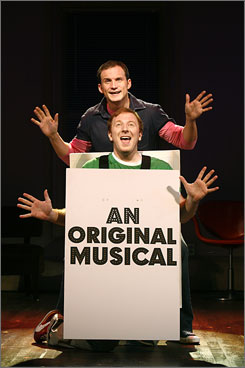 We get it: Jeff Bowen is Jeff and Hunter Bell is Hunter in [title of show], now playing off-Broadway.