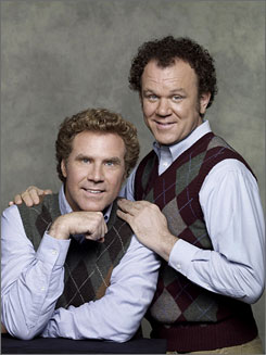 Amigos in argyle: But Will Ferrell, left, and John C. Reilly hate each other at first when their parents get married.