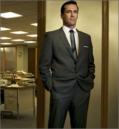 He's got a secret: Jon Hamm is compelling as 1960s advertising executive Don Draper.