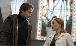Out there: David Duchovny and Gillian Anderson reprise their roles as Mulder and Scully for the big screen.