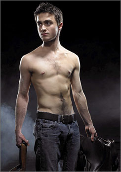 Stripped down: Harry Potter star Daniel Radcliffe stars in Equus.