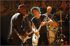 Their Buddy: Guy gets in the groove with Keith Richards in Shine a Light.
