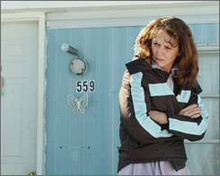 Falling through the cracks: Melissa Leo as a poor single mother.
