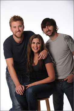 A Lady with gentlemen: Charles Kelley, left, Hillary Scott and Dave Haywood.