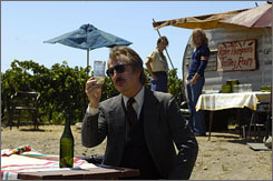  Bottle Shock: Alan Rickman plays Steven Spurrier, the British wine authority who organized the 1976  blind tasting that had surprising results and made California wines a respected product.