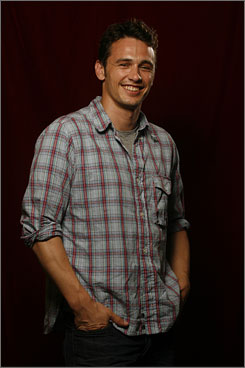  Accomplished actor: James Franco is working toward a master's degree in writing and is interested in art. 