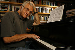 Never short on ideas: The latest from Randy Newman, at his home in Pacific Palisades, Calif., is Harps and Angels.