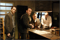 Meet The Counterfeiters: Karl Markovics, left, Veit  Stbner and August Zirner.