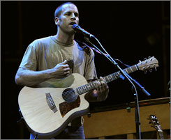 Acoustic newcomer: Jack Johnson soothed with songs from his new CD, Sleep Through the Static.