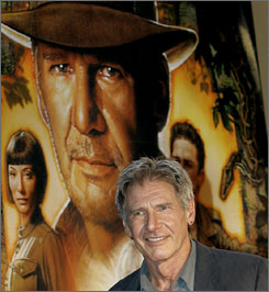 Harrison Ford attends the Tokyo premiere of Indiana Jones and the Kingdom of the Crystal Skull on June 5.