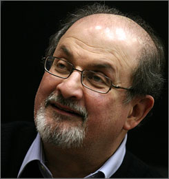 Salman Rushdie, author of The Satanic Verses, criticized his publisher for pulling a book depicting the prophet Muhammad from shelves.