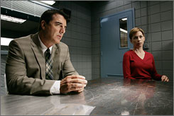 On Criminal Intent: Noth with Julianne Nicholson, as Detective Megan Wheeler.