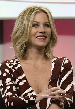 """I'm going to have cute boobs 'til I'm 90, so there's that,"" Christina Applegate joked. ""I'll have the best boobs in the nursing home. I'll be the envy of all the ladies around the bridge table."""