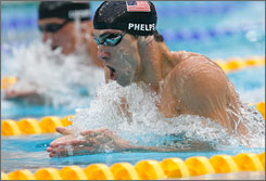 Olympic splash: Michael Phelps  proved golden in every race.
