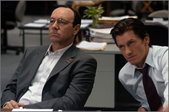 Election cliff-hanger: Kevin Spacey, left, and Denis Leary in HBO's Recount.