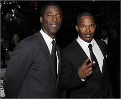 Isaiah Washington and Jamie Foxx were among the celebrities at a soiree for Obama.