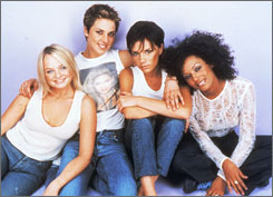 The Spice Girls: Emma Bunton, left, Melanie Chisolm, Victoria Beckham and Melanie Brown.