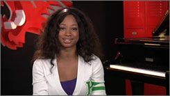 Part of the process: High School Musical's Monique Coleman appears in a Declare Yourself spot.