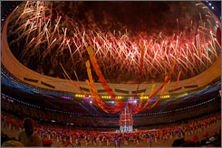 Beijing: The closing ceremonies on Sunday had a cast of 7,000.
