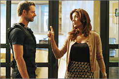 Romantic: David Sutcliffe plays a police officer to Kate Walsh's neonatal surgeon in Private Practice.