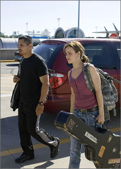 The Lucky Ones: Michael Pena and Rachel McAdams play soldiers just back from Iraq.
