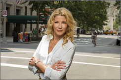 "New York state of mind: Candace Bushnell mines the ""small-town aspect"" of the city in her new novel One Fifth Avenue out Sept 22."