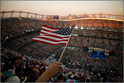 Top draw: The presidential nomination of Sen. Barack Obama at Denver's Invesco Field.