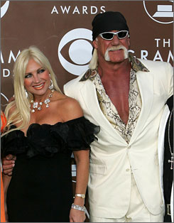 In happier times: Hulk Hogan and  Linda Bollea at the Grammy Awards in 2006.