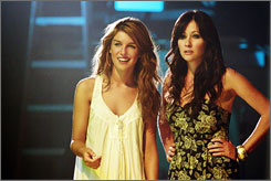 Back to Beverly Hills: Shenae Grimes, left, and Shannen Doherty in 90210, a reinterpretation of the '90s teen soap.