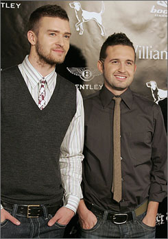 Lifelong friends: Justin Timberlake, left, and  Trace Ayala are the brains behind the William  Rast fashion line.