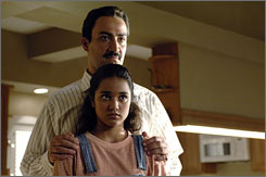 Father and daughter: Peter Macdissi and Summer Bishil.