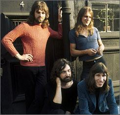 Richard Wright, top left, a founding member of Pink Floyd along with David Gilmour, Roger Waters and Nick Mason, has died of cancer at age 65.